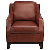 Porto Leather Accent Chair Cognac