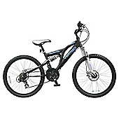"Vertigo Eiger 24"" Dual Suspension Mountain Bike, 14"" Frame"