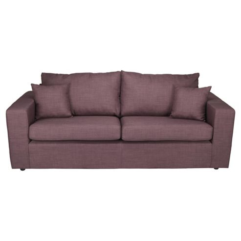 Maison Large Fabric Sofa, Aubergine