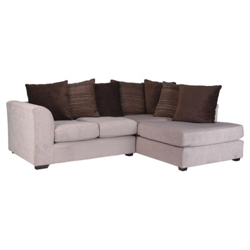 Ontario Fabric Corner Sofa, Mink Right Hand Facing