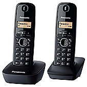 Panasonic KX-TG1612EH Twin Cordless Phone - Black
