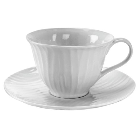 Sophie Conran White Oak Set of 4 Teacups and Saucers