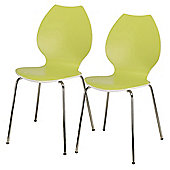 Candy Pair Of Chairs White / Lime Green