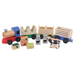 Melissa & Doug Wooden Toy Farm Train