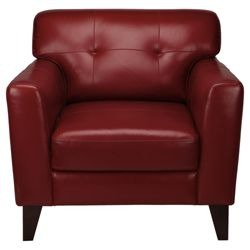 Arizona Leather Armchair, Red
