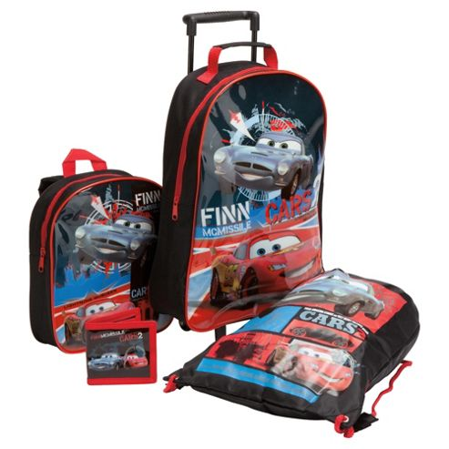 Disney Cars 2 4-Piece Kids' Luggage Set