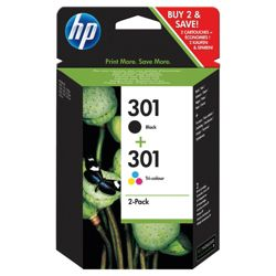 HP 301 Combo Pack Printer Ink Cartridge - Tri-colour and Black (CR340EE)