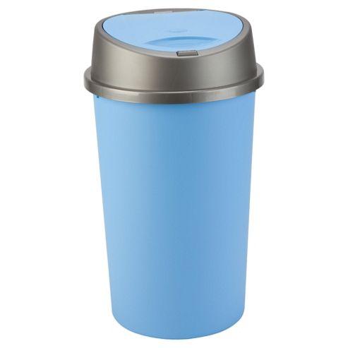 45L blue touch top bin