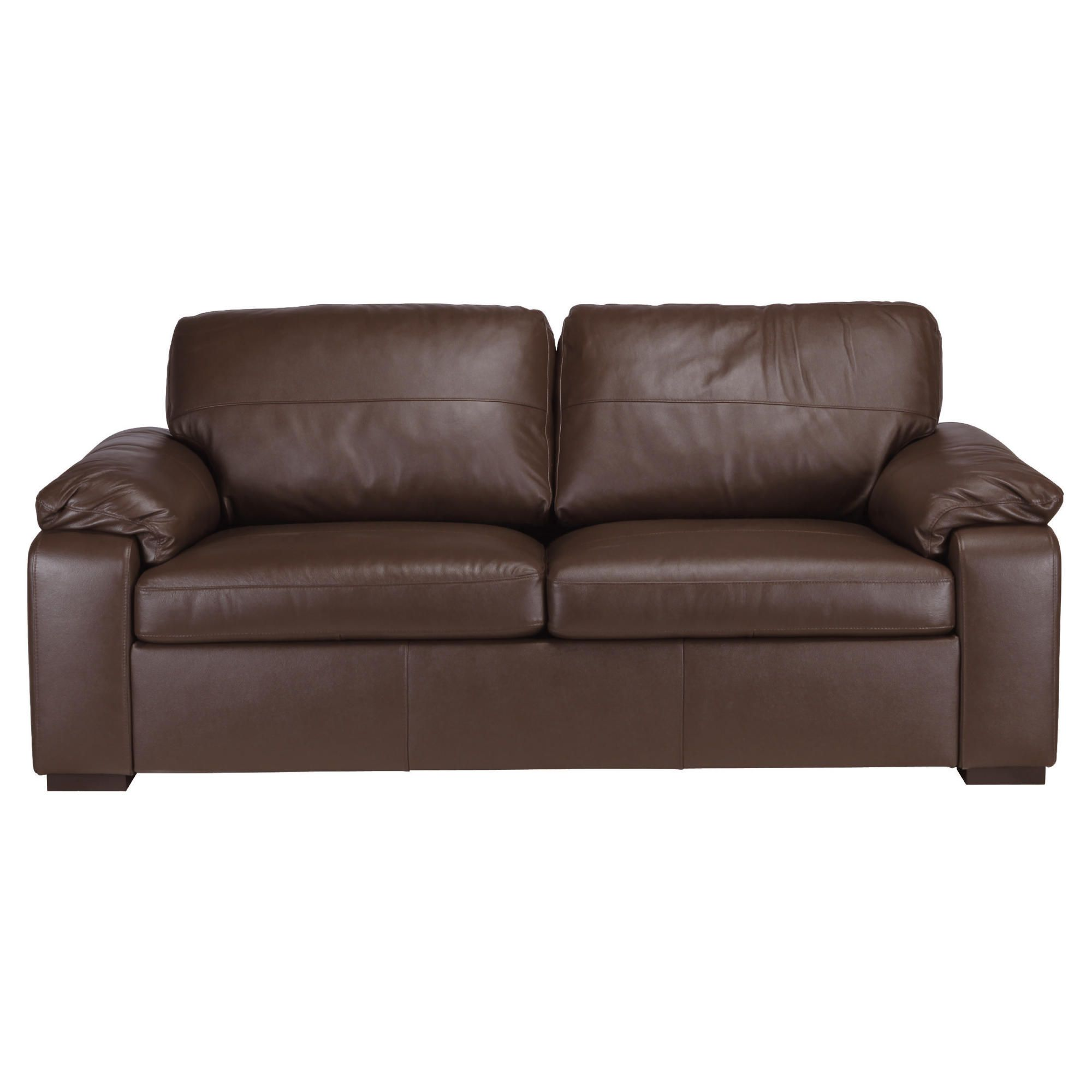 Ashmore Leather Sofa Bed, Brown at Tesco Direct