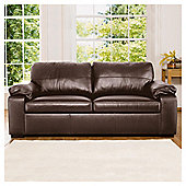 Ashmore Leather Sofa Bed, Brown.