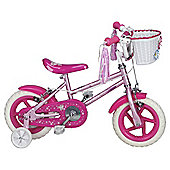 "Sparkle & Glitz 12"" Kids' Bike - with stabilisers"
