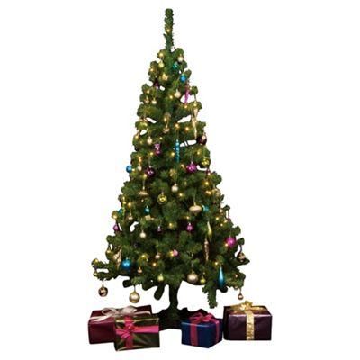 pre lit 6ft christmas tree tesco