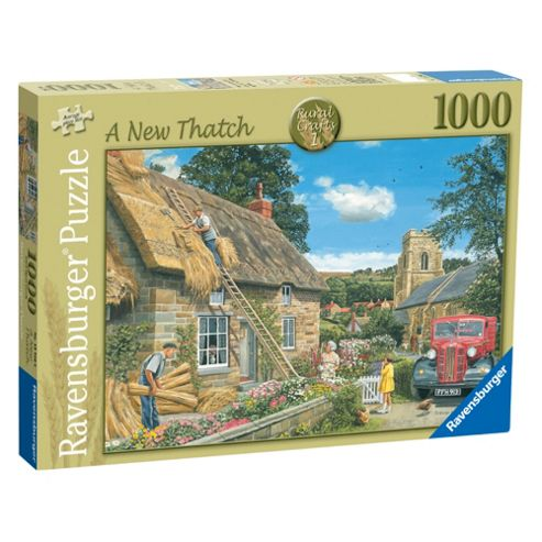 Rural Crafts - A New Thatch, 1000 piece Jigsaw Puzzle