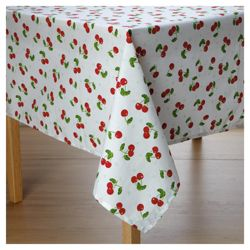 Tesco wipe clean Cherries tablecloth