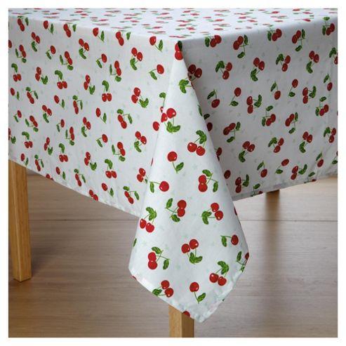 Tesco wipe clean Cherries tablecloth