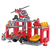 Ecoiffier Pretend Play Fire and Rescue Station Playset
