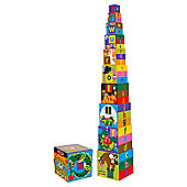 Melissa & Doug Alphabet Nesting and Stacking Wooden Blocks