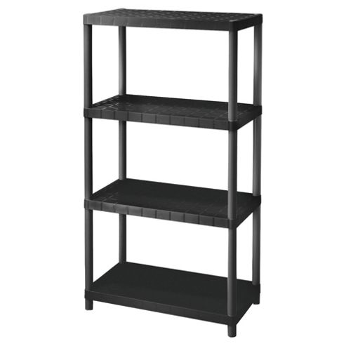 buy keter 15 4 tier plastic shelving unit from our wall. Black Bedroom Furniture Sets. Home Design Ideas