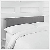 Mittal Double Faux Suede Headboard, Charcoal
