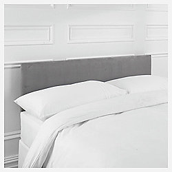 Seetall Mittal Double Headboard Faux Suede, Charcoal