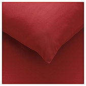 Pillowcases x4 dark red