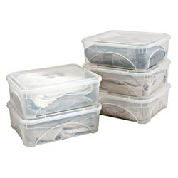 16L sweater box with lid, 5 pack