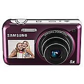 Samsung PL170 Dual Screen Digital Camera, 16.1MP, 5x Optical Zoom, Pink