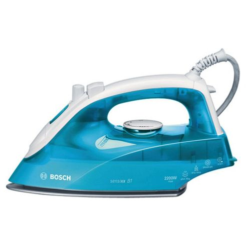 Bosch TDA2633GB Ceramic Plate Steam Iron - White & Turquoise