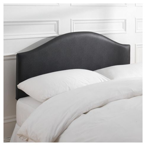 Laredo Double Faux Leather Headboard, Black