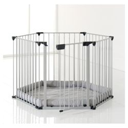 BabyDan Play Pen with Play Mat, Silver