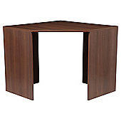 Como High Gloss Corner Desk, Walnut