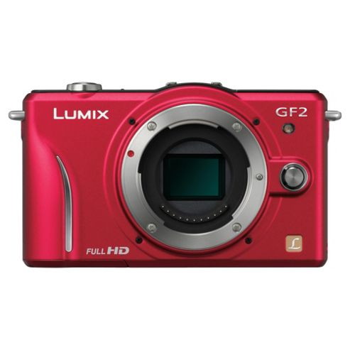 Panasonic Lumix GF2 Compact System Camera (with 14-42mm Lens) - Red