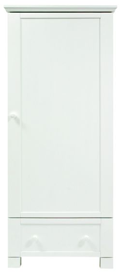 East Coast Montreal Single Wardrobe, White