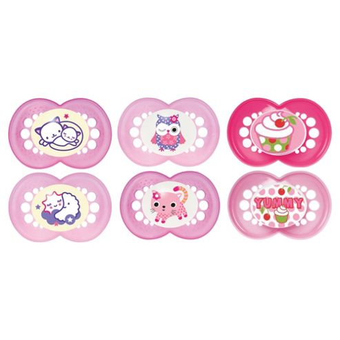 MAM Soother Set 6+ Months, Girls