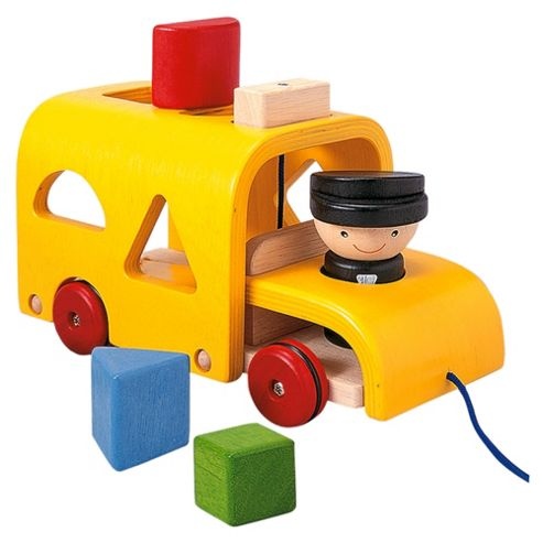 Plan Toys Sorting Bus Wooden Toy