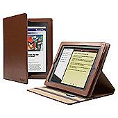 Cygnett Windsor Brown Premium Leather Folio Stand Case for Apple iPad 2