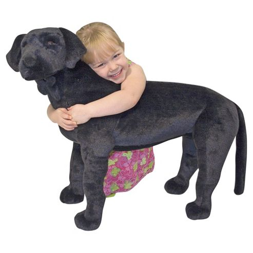 Melissa & Doug Black Labrador Giant Soft Toy