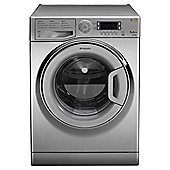 Hotpoint Ultima WMUD942X Washing Machine, 9Kg Wash Load, 1400 RPM Spin, A++ Energy Rating, Stainless Steel