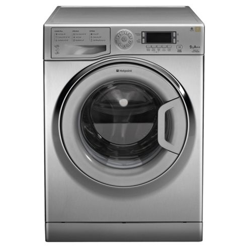 Hotpoint Ultima WMUD942X Washing Machine, 9kg Wash Load, 1400 RPM Spin, A++ Energy Rating. Stainless Steel