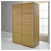 Smith Double Sliding Wardrobe, Oak-Effect