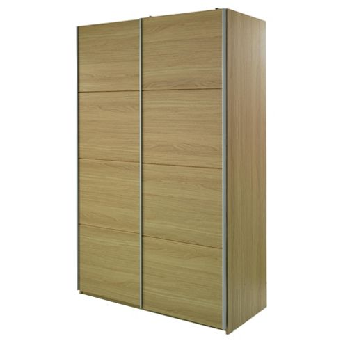 Smith Double Sliding Wardrobe, Oak Effect