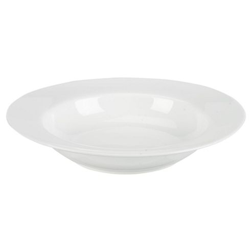Tesco Set of 4 Porcelain Soup Bowls, White