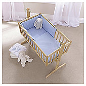 Clair de Lune Starburst 2pc  Rocking Crib Set, Blue