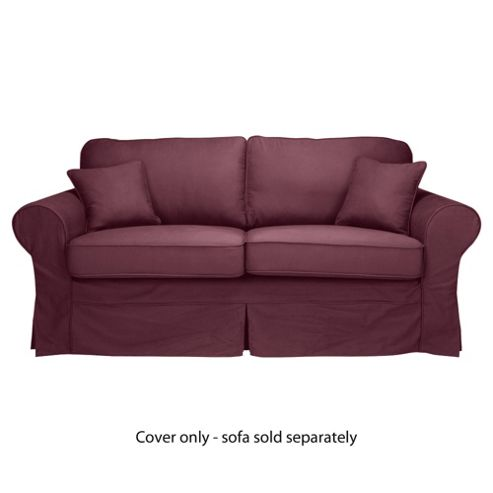 Louisa Loose Cover For Medium Sofa, Aubergine