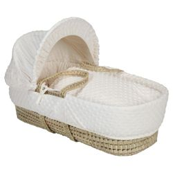 Clair de lune Dimple Moses Basket, Cream