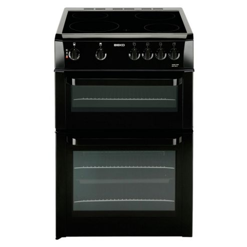 Beko BDVC663K Black 60cm Twin Cavity Ceramic Cooker