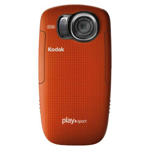 Kodak PlaySport Zx5 (Red), Full HD 1080P, Waterproof, Dustproof and Shockproof