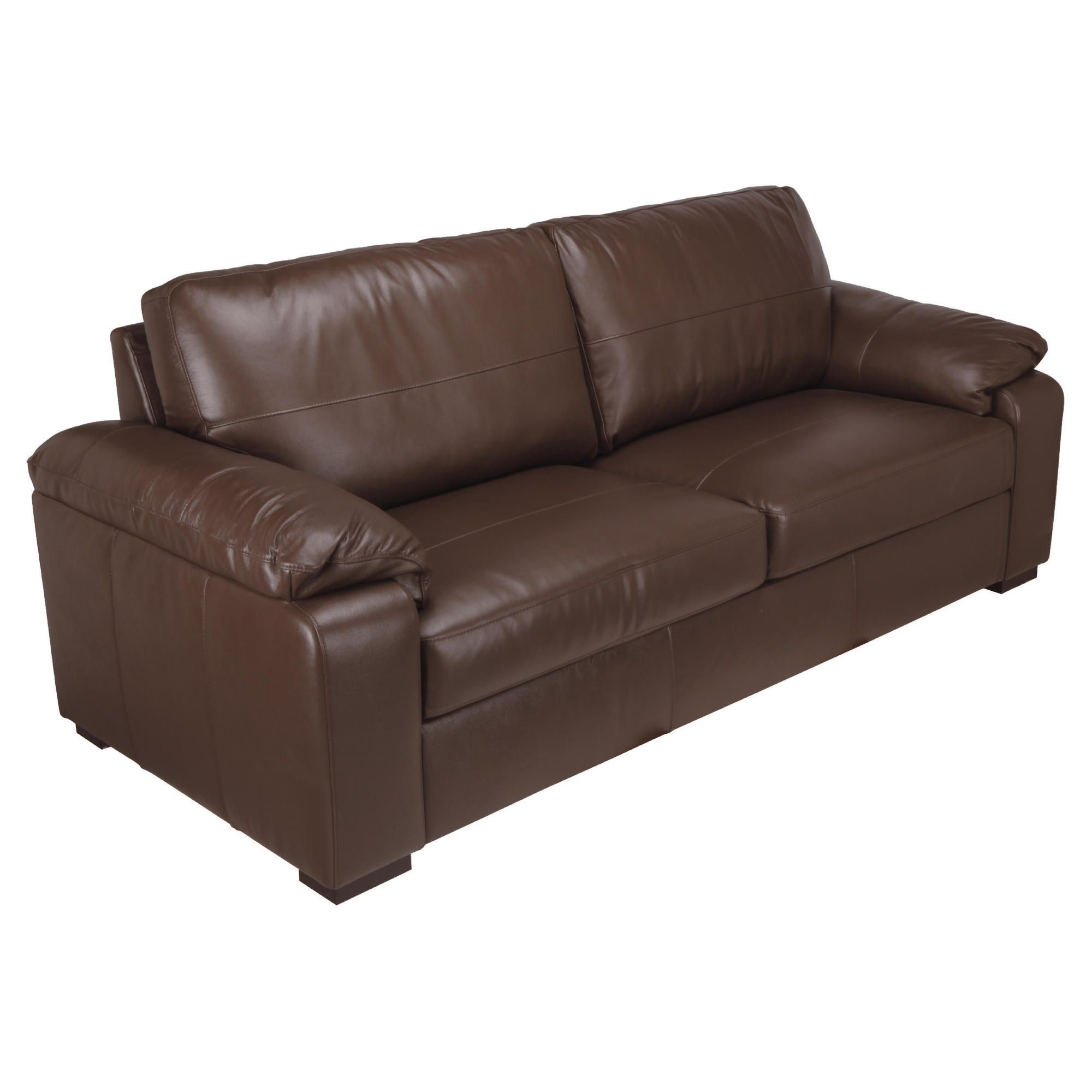 Ashmore Large Leather Sofa, Brown at Tesco Direct