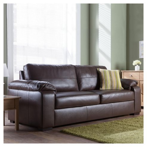 Ashmore Large Leather Sofa, Brown
