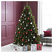 Festive Virginia Fir Christmas Tree, 6.5ft